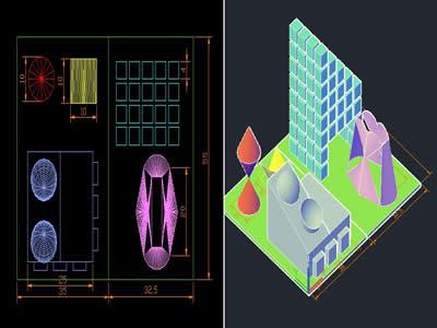 imagen Plano 3d, en Ejercicios varios - Dibujando con autocad