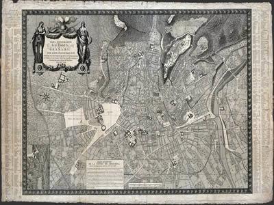 imagen Plano de granada de 1795-96, en España - Diseño urbano