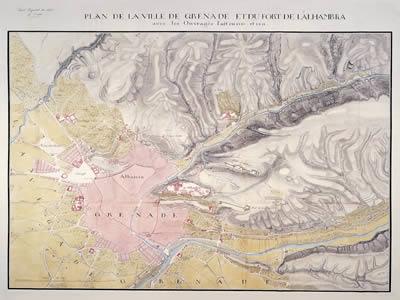 imagen Plano de granada de 1811, en España - Diseño urbano