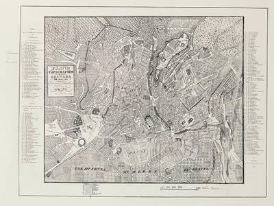 imagen Plano de granada de 1845, en España - Diseño urbano