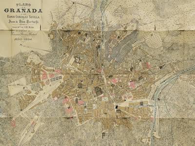imagen Plano de granada de 1894, en España - Diseño urbano