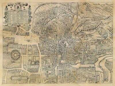 imagen Plano de granada del siglo xvi-xvii, en España - Diseño urbano
