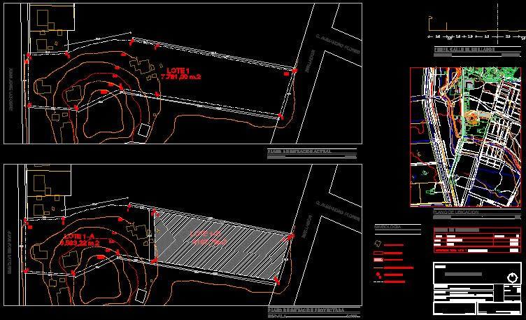 imagen Plano de subdivision, en Topografía - Varios