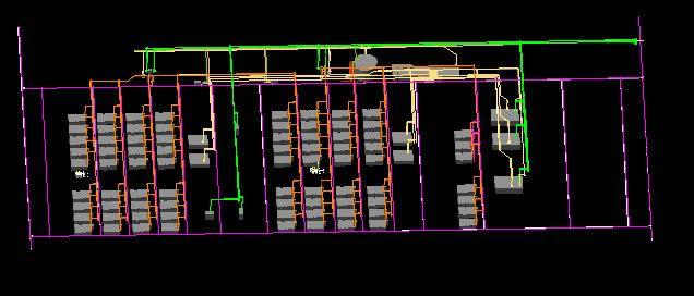 imagen Plano de tuberias de planta ford en 3d, en Maquinaria e instalaciones industriales - Máquinas instalaciones