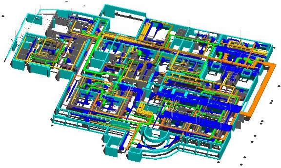imagen Planta clinica3d analisis, en Instalaciones - Hospitales