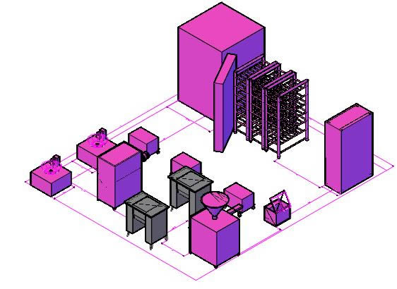 imagen Planta de embutidos 3d, en Construcciones especiales - Granjas e inst. agropecuarias