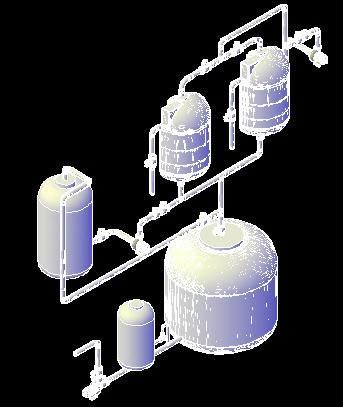 imagen Planta potabilizadora en 3d sin floculadores, en Plantas depuradoras - Infraestructura