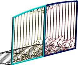 Planos de porton reja hierro forjado en portones for Portones de hierro forjado para casas