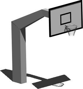 imagen Poste basquet 3d, en Canchas - Deportes y recreación