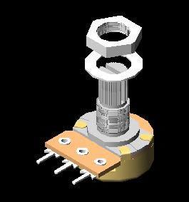 imagen Pot2 3d, en Componentes 3d - Electrónica