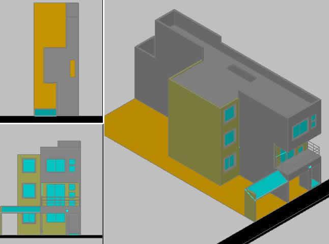 imagen Proyecto 3d casa-habitacion., en Perspectivas - Dibujando con autocad