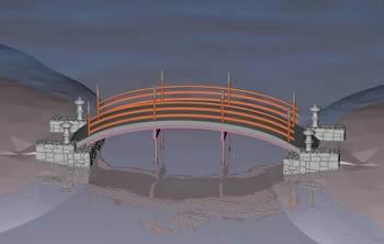 imagen Puente caminero, en Puentes - Obras viales - diques