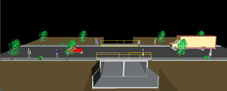 imagen Puente vehicular en agua prieta sonora, en Puentes - Obras viales - diques