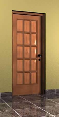 imagen Puerta 0.90x2.10 mts tipo 9, en Puertas 3d - Aberturas