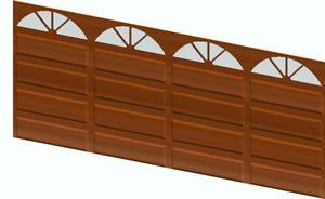 imagen Puerta cochera 3d con materiales, en Portones - Aberturas