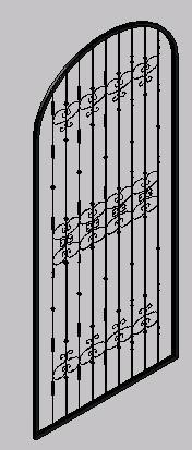 imagen Puerta colonial de herreria 3d, en Puertas 3d - Aberturas