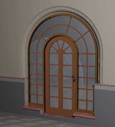 imagen Puerta de entrada madera y cristal.zip, en Puertas - Aberturas