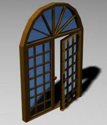 imagen Puerta doble 3d, en Puertas 3d - Aberturas