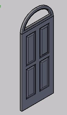 imagen Puerta entablerada de madera 3d, en Puertas 3d - Aberturas