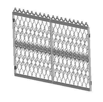 imagen Puerta forjada-a 3d, en Herrería artística