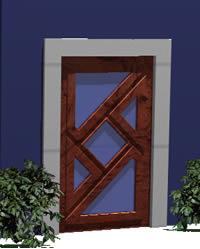 imagen Puerta madera, en Puertas 3d - Aberturas