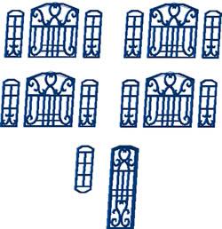 imagen Puertas y ventanas de hierro forjado, en Herrería artística