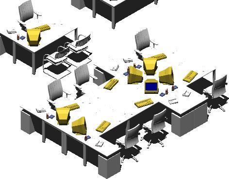 imagen Puestos de trabajo oficina, en Escritorios - Muebles equipamiento