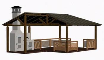 imagen Quincho 3d, en Quinchos - churrasquerías - cocinas alternativas - Parques paseos y jardines