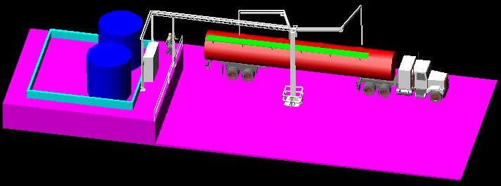 imagen Rac de carga 3d, en Depósitos almacenes y bodegas - Proyectos