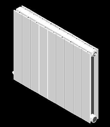 Planos de radiador aluminio 3d en calefacci n for Radiador dwg
