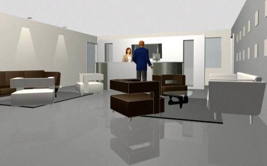 imagen Recepcion 3d amoblado, en Oficinas y laboratorios - Muebles equipamiento