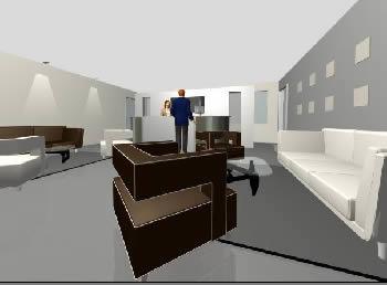 imagen Recepcion moderna 3d, en Oficinas y laboratorios - Muebles equipamiento