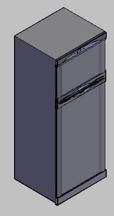 imagen Refrigerador duplex 3d, en Electrodomésticos - Muebles equipamiento