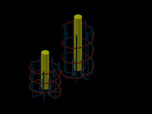 imagen Refuerzo pilote 1.2x0.70m, en Hormigón armado - Detalles constructivos