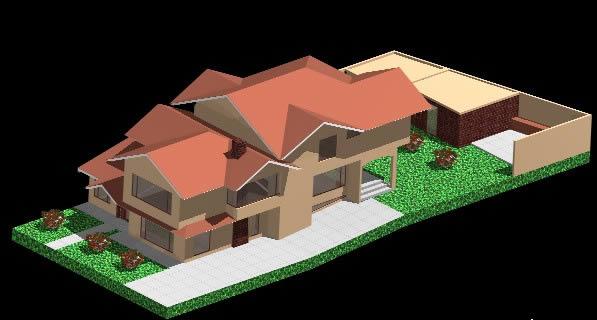 imagen Residencia 3d., en Vivienda unifamiliar 3d - Proyectos