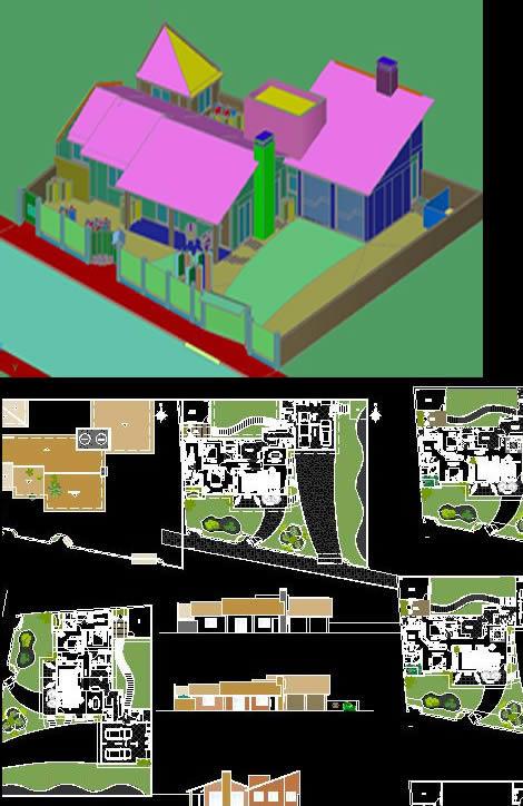 imagen Residencia terrea 3d - 2d, en Vivienda unifamiliar 3d - Proyectos