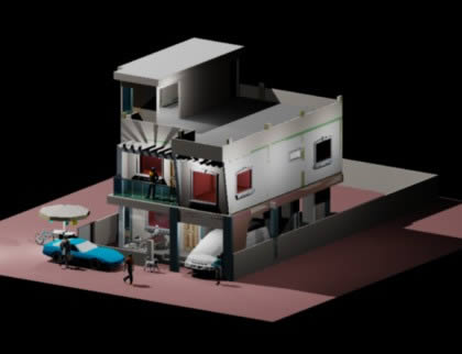 imagen Residential model, en Vivienda unifamiliar 3d - Proyectos