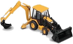 imagen Retroexcavadora cat, en Automóviles - fotografías para renders - Medios de transporte