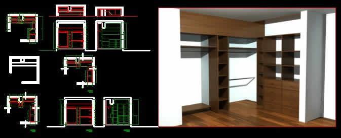Dormitorios archives p gina 5 de 22 planos de casas for Habitacion 3d autocad