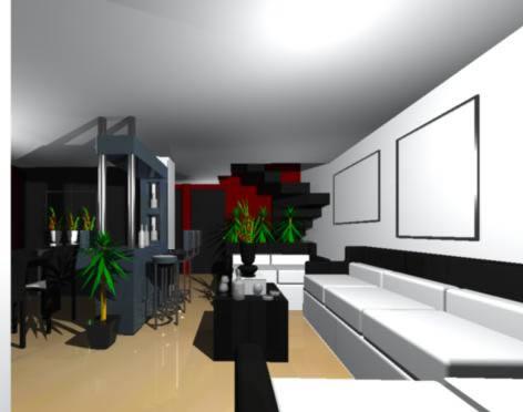 imagen Sala comedor 3d, en Vivienda unifamiliar 3d - Proyectos