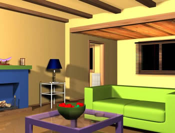 Sala de estar 3d en comedores proyectos en planospara for Sala de estar dibujo