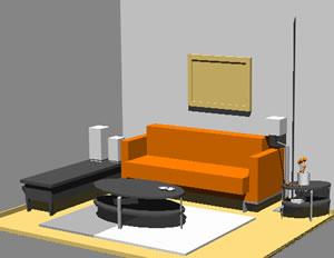 imagen Sala  de estar 3d, en Salas de estar y tv - Muebles equipamiento