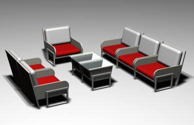 imagen Sala minimalista modular, en Salas de estar y tv - Muebles equipamiento