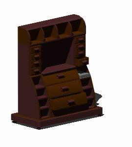 imagen Secreter 3d, en Escritorios - Muebles equipamiento