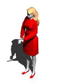 imagen Señora 3d, en 3d - Personas