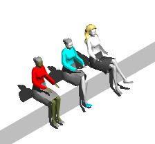imagen Señoras sentadas 3d, en 3d - Personas