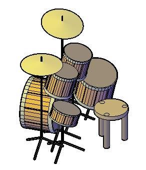 imagen Set de bateria, en Instrumentos musicales - Muebles equipamiento