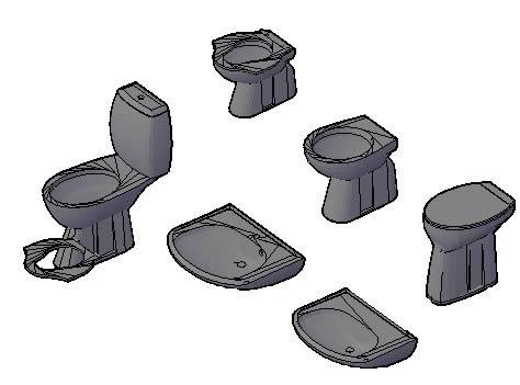 imagen Set de sanitarios, en Inodoros especiales - Sanitarios