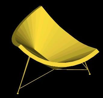 imagen Silla coconut 3d, en Sillones 3d - Muebles equipamiento