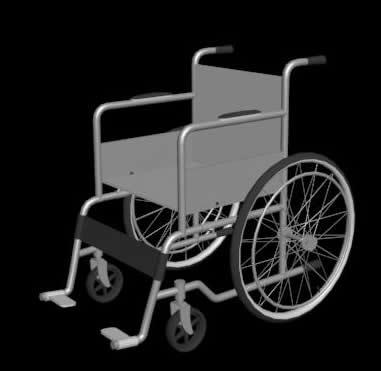 silla de ruedas 3d max